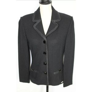 NWT $1050.00 St John Evening Knit Blazer Jacket  8